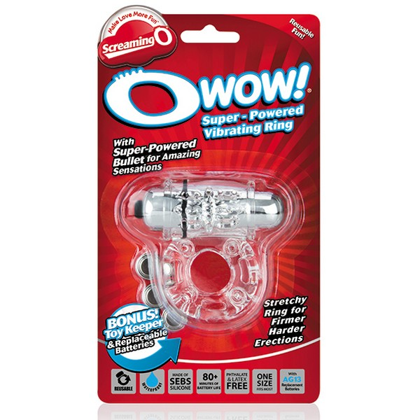The Screaming O SCOW Transparent Owow Cock Ring