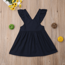 Summer Infant Kid Baby Girl Solid Color Ruffle Princess Party Dress Clothes NAcloset