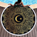 Round Beach Towel Moon 3D NAcloset
