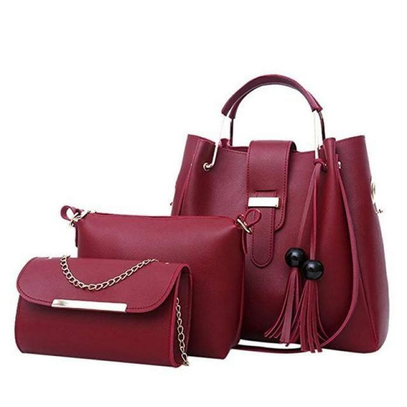 Set of 3 leather bags NAcloset