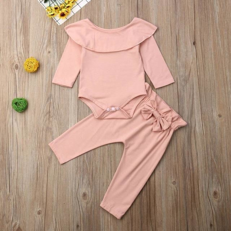 Matilde Long Sleeve Winter Baby Pants Set NAcloset