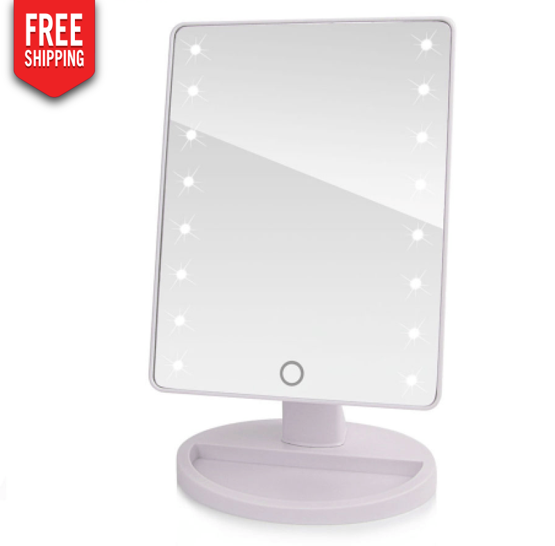 Makeup Mirror with 16 Led's Touch and Compartment for by the Baton