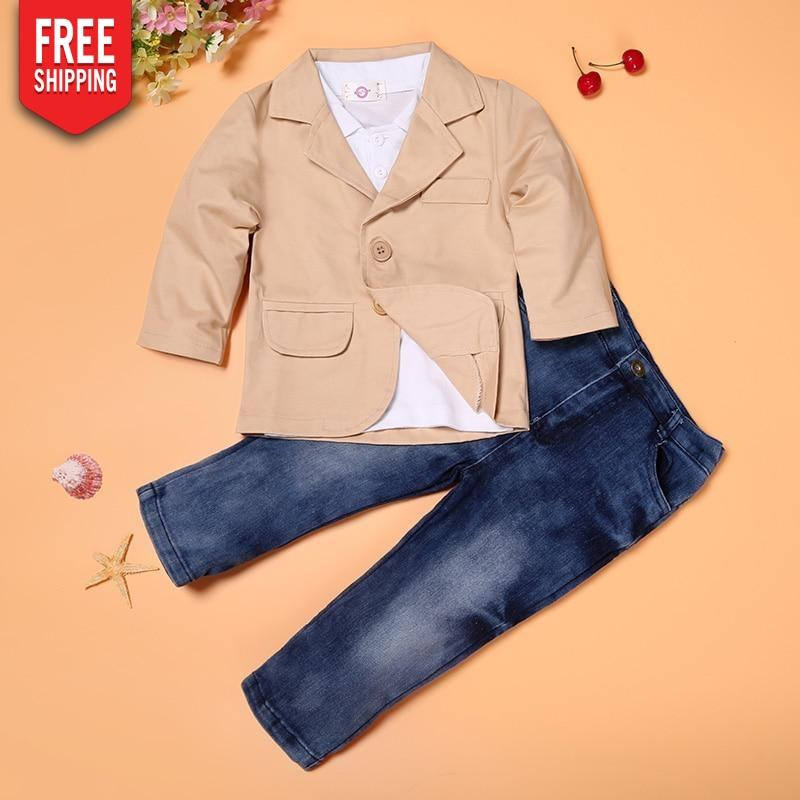 Boy's Blazer T-Shirt and Pants Set for Kids NAcloset