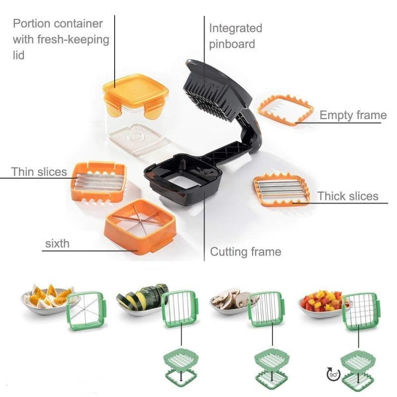 5 Vegetable Cutter on 1 Nicer Dicer Quick NAcloset