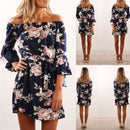 Short and Light Floral Dress from Shoulders to Blue Show NAcloset