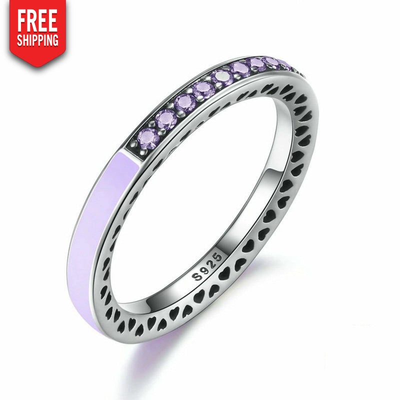 Silver Woman Ring with Zirconia