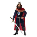 Adult Costume 113893 Medieval King Navy Blue Red - NAcloset