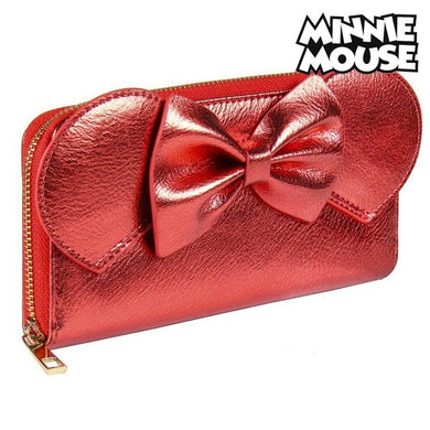 Wallet Minnie Mouse Card Holder Red Metallic 70686