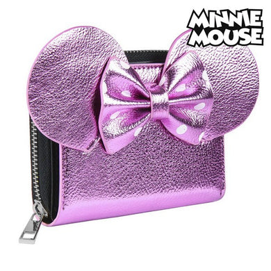 Wallet Minnie Mouse Card Holder Pink Metallic 70688