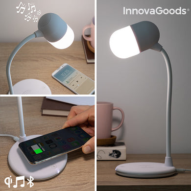 LED Speaker Lamp with 3-in-1 Wireless Charger