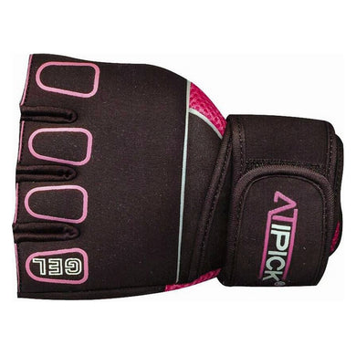 Atipick GTH1010 Training Gloves Black Pink (Size l)