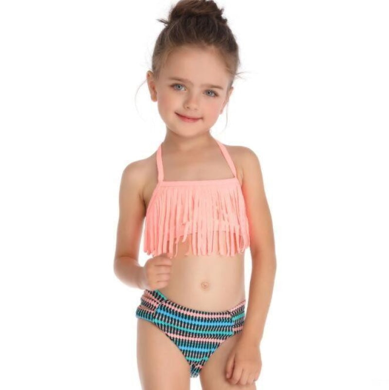 Fringe Bikini for Mother and Daughter NAcloset