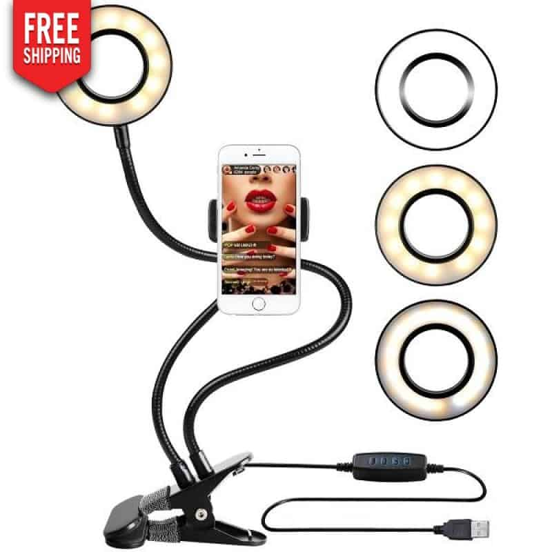 Formbarer Influencer Selfie Light Ring mit Handyhalter NAcloset