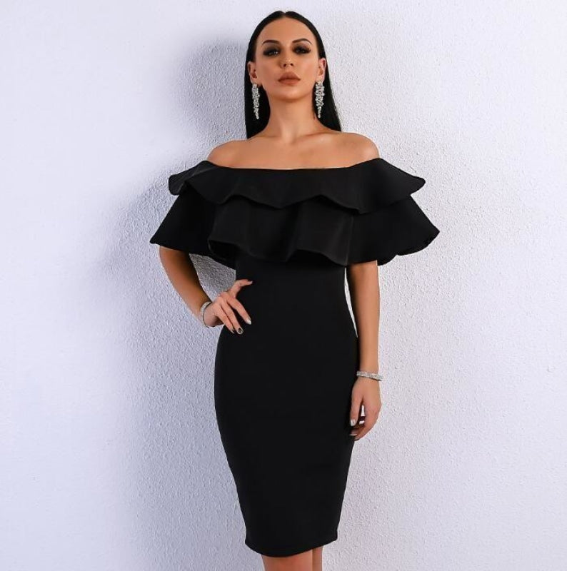 Vany Shoulder Formal Show Kleid für Frauen NAcloset