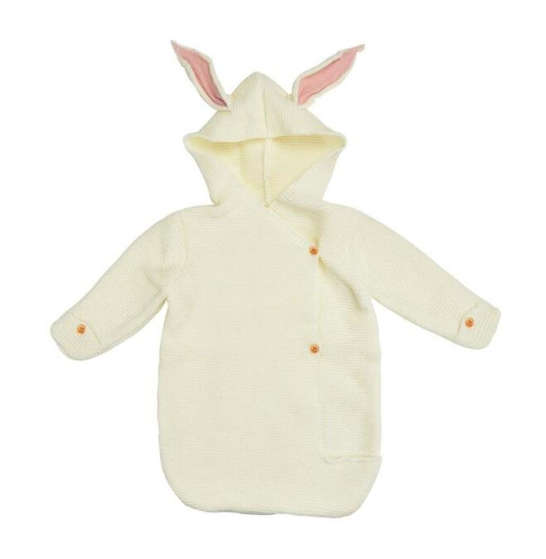 Baby Boy und Girl Hooded Bunny Ears Decke NAcloset