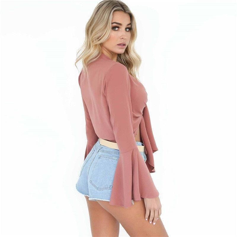 Top Sónia de Barriga à Shows and Long Sleeve for Women NAcloset