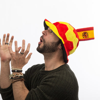 Ball Hat with Flag of Spain in Relief