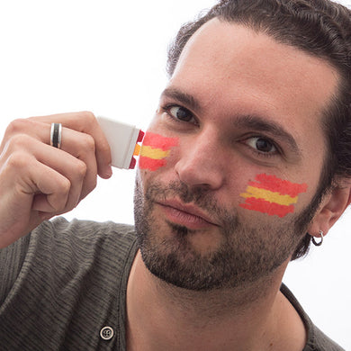 Face Painting with the Spanish Flag