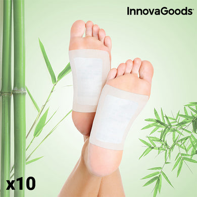 InnovaGoods Detox Foot Stickers (Set of 10)