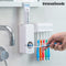 InnovaGoods Toothpaste Dispenser with Brush Holder