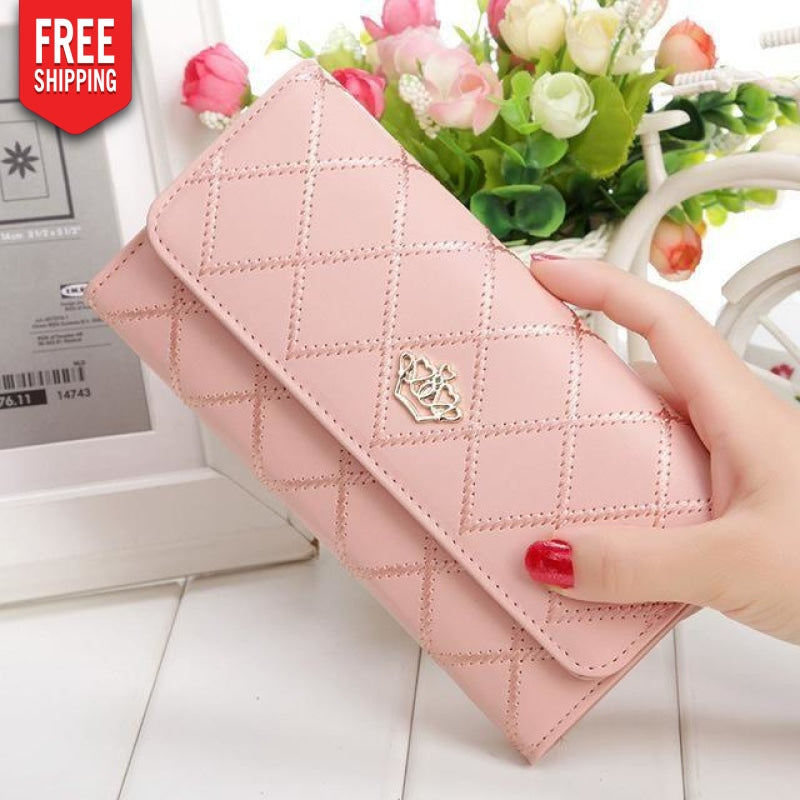 PU Leather Queen Hand Wallet