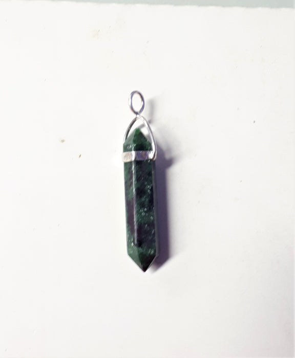 Ruby in Zoisite Double Terminated Pendant