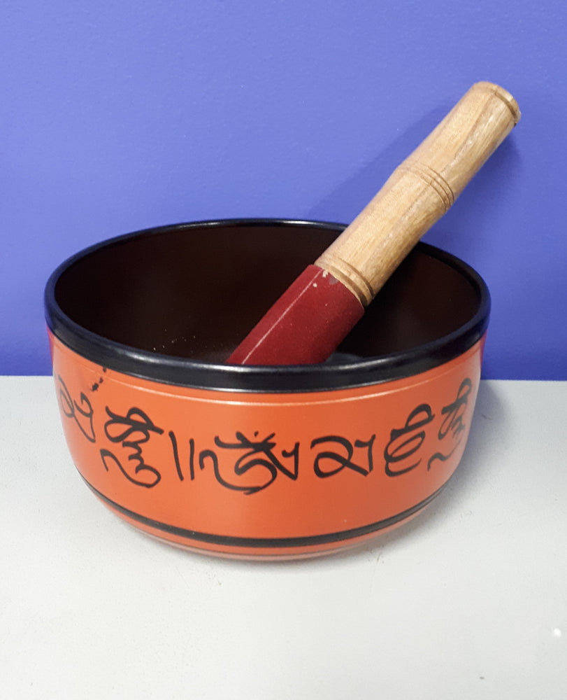 Light Red Aluminium Singing Bowl