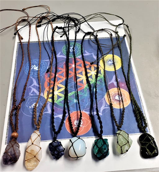Assorted Macrame Netted Necklaces