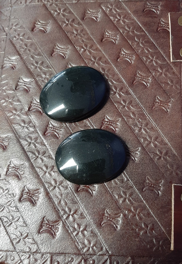 Black Obsidian (Oval) Worry Stone