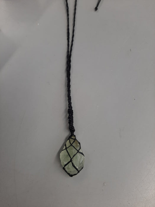 Macrame Wrapped Crystal Necklaces