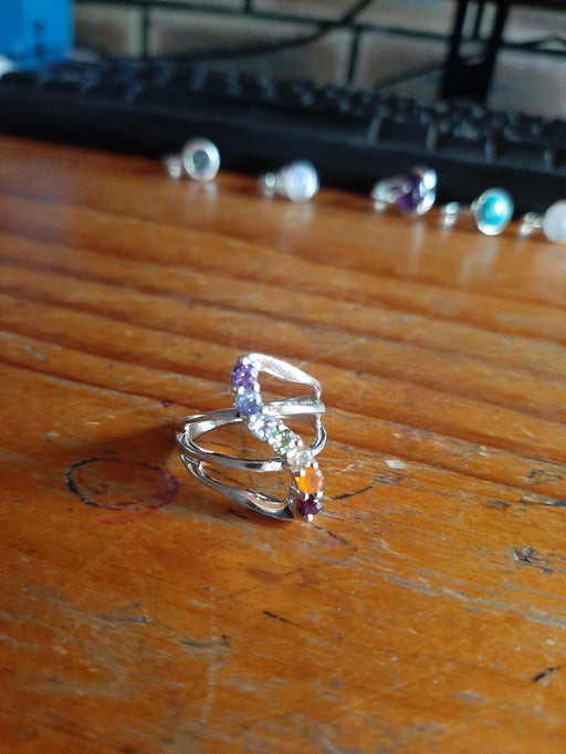 Chakra Sterling Silver Ring