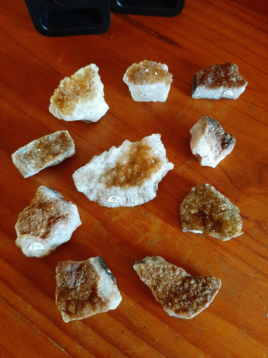 Citrine Clusters Assorted Sizes