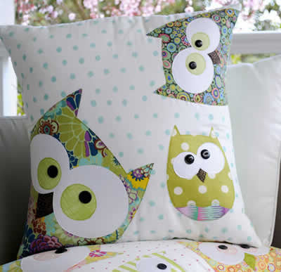 Claire Turpin-Family of Owls (cushion)