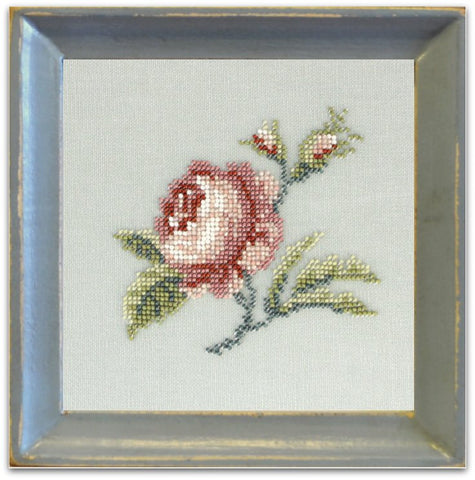 Ann's Orchard-Antique Rose Linen Beadwork Kit