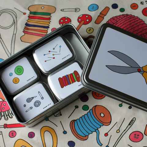Laura Lee-Set of Sewing Tins