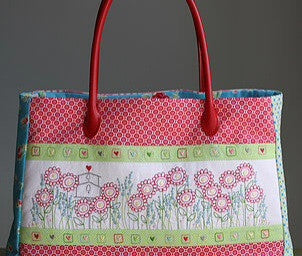 Leanne's House-Hearts & Happy Flowers Bag