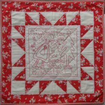 Rosalie Quinlan-Peppermint Stitches Wall Quilt