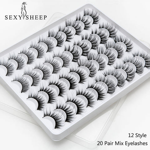 High Quality Tripple Layered Perfect Flufy Lashes -20 Pairs