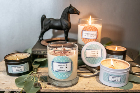 Peace. Love. Horses    Equestrian Candle
