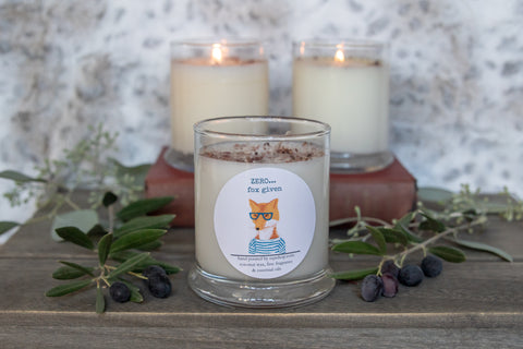 Zero Fox Given  12 ounce candle Snarky  fox