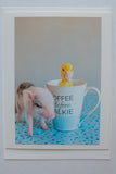 No coffee, no talkie ( pig and duck)