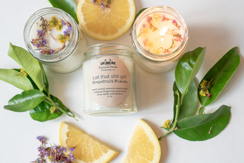 Let that shit go!   Grapefruit- Mimosa candle