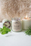 RECHARGE  rosemary-mint hand poured candle