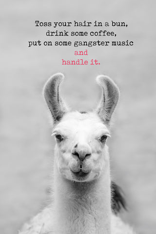 Toss your hair in a bun, put some gangster music on and handle it!