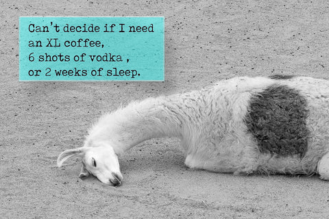 Can't decide if I need an XL coffee , 6 shots of vodka, or two weeks sleep.