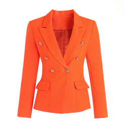 Orange Slim Fit Blazer