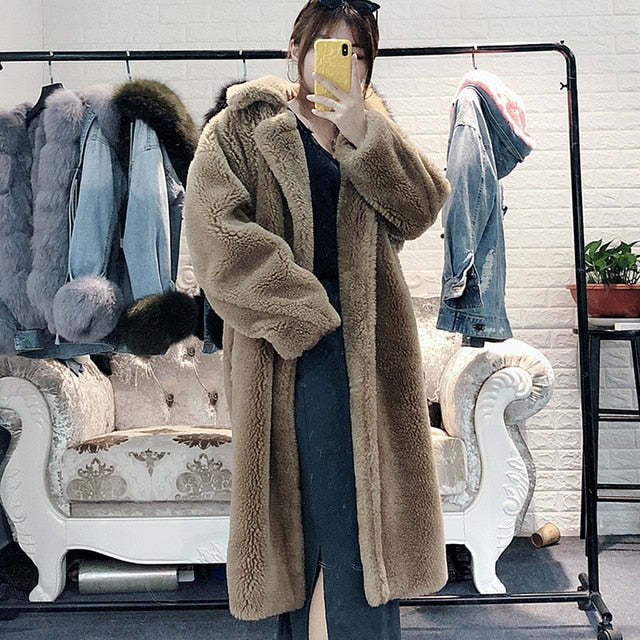 Natural Wool Teddy Coat
