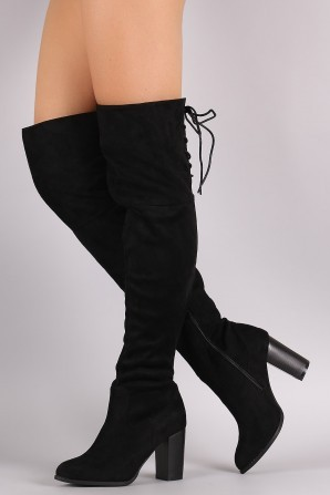 The Zinc Over The Knee Suede Boot [BLACK]