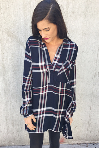 The Hunter Plaid Tunic