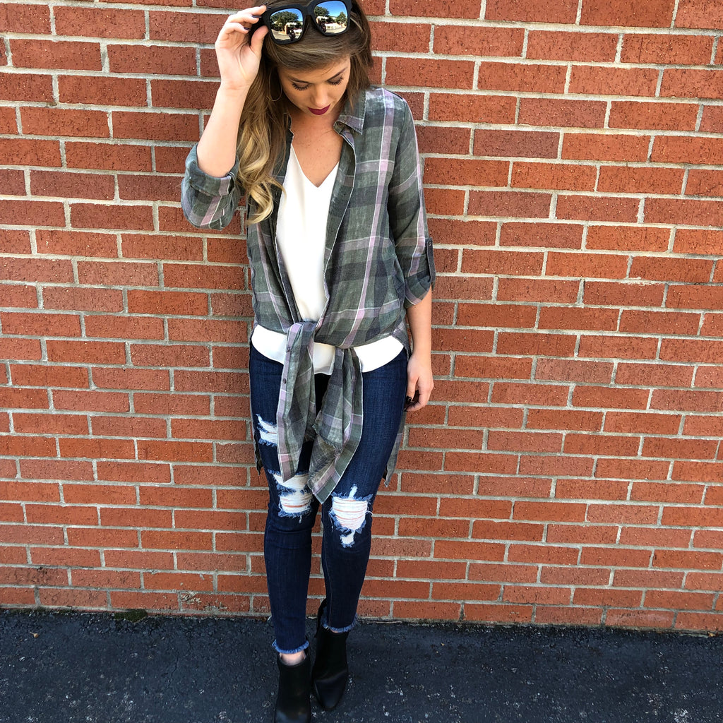 The Ramsey Plaid Top
